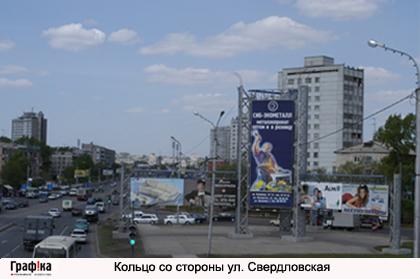 Кольцо со стороны ул. Свердловская