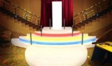 изготовление свето-динамических ступеней для казино «Клеопатра»
